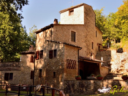 RURAL STONE HOUSE IN THE COUNTRYSIDE OF SAN GIMIGNANO 370 SQM WITH LAND